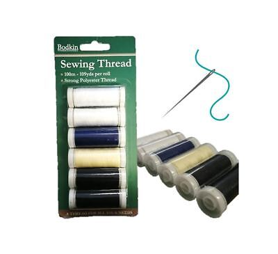 £1.99 • Buy Sewing Thread Strong Polyester Hand Sewing Machine Spool 100m 6 Pc