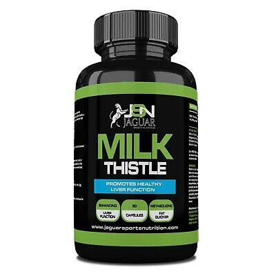100% Pure Milk Thistle 90 Capsules   Huge 3 Month Supply   Powerful Liver Detox • 10.75£