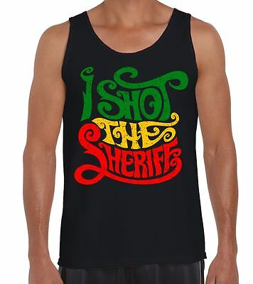 be0eae29f500c9 I Shot The Sheriff Reggae Men s Vest Tank Top - Rasta Bob Marley T-Shirt