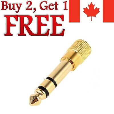 6.5mm 1/4  Male To 1/8  3.5mm Audio Jack Stereo Headphone Adapter 6.5mm To 3.5mm • 2.25£