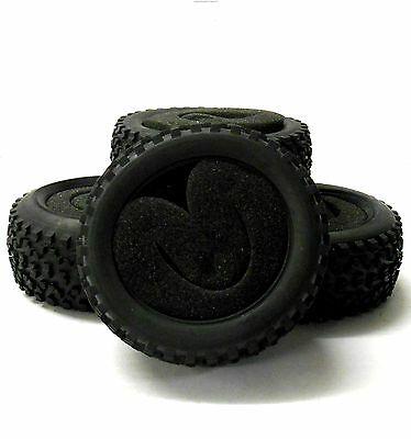 BY-003/4 1/10 Off Road Front Rear Buggy RC Rubber Tyre Black Foam Insert 4 Inlay • 11.99£