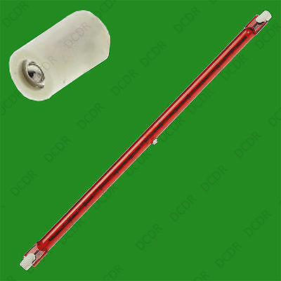 2x 1300W 254mm R7S Halogen Quartz Ruby Red Infra-Red Heater Bar Tube, Heat Lamp • 28.95£