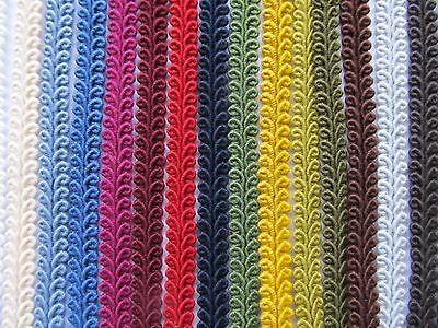 10mm COTTON SCROLL BRAID Blinds Lampshade Costume Upholstery Furnishing Gimp • 1.75£