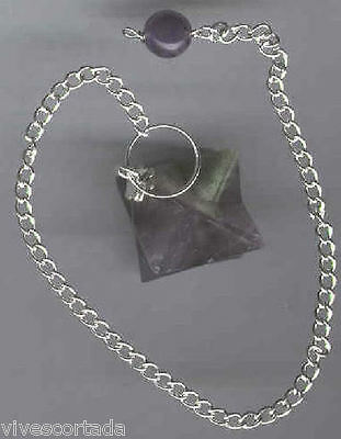 Pendulum Merkabah IN Amethyst With Chain Incorporated (Similar) • 5.98£