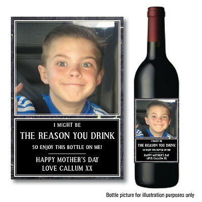 £2.95 • Buy FATHERS Day Birthday PERSONALISED WINE PROSECCO GIN BOTTLE LABEL REASON DRINK 48