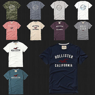 AU28.29 • Buy NWT HOLLISTER Printed And Applique Logo Graphic Men T Shirt Tee By Abercrombi​e
