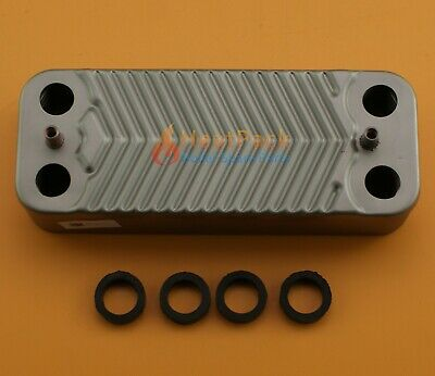 Ideal Isar He 24 30 Isar M30100 Boiler Dhw Plate Heat Exchanger (16 Pl) 170995 • 18.90£