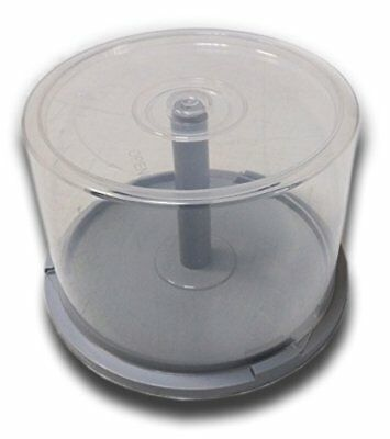 £4.99 • Buy 50 High Quality Storage CD DVD Empty Spindle Tub TOUGH CakeBox Case GREY Bottom