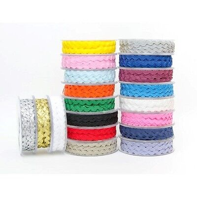 Ric Rac Braid Wave Trimming Width 6mm X 20m Reel Over 20 Colours • 3.75£