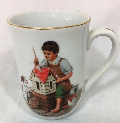 $ CDN9.95 • Buy 1982 Norman Rockwell Museum Porcelain Coffee Mug Cup  A Dollhouse For Sis