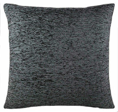 Plain Chenille Charcoal Cushion Covers 18 X 18  Double Sided Lovely Quality Item • 6.99£