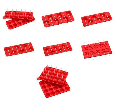 £7.99 • Buy Cake Pop Mould Red Silicone PP Sticks Different Style Baking Cookware Dining