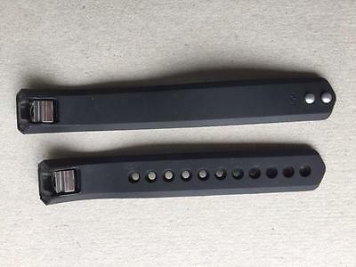 AU5.49 • Buy Two (2) Large Wrist Strap Wristband Black Band Replacements Suit Fitbit Alta