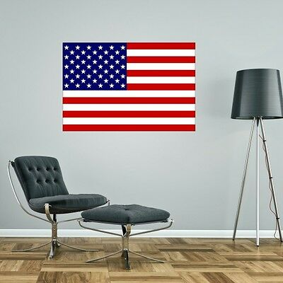 USA United States Of America FLAG GIANT WALL STICKER Decal Car Art Vinyl 5 Sizes • 6.49£