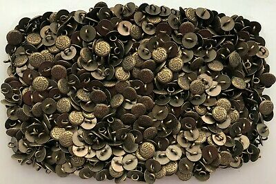 $1.66 • Buy Small 11mm 18L Antique Brass Effect Flower Metal Shank Costume Buttons (XM38)