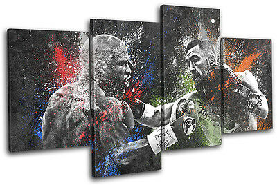 Mayweather McGregor Boxing UFC Sports MULTI CANVAS WALL ART Picture Print • 79.99£