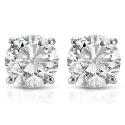 $176.71 • Buy 1/2Ct Round Genuine Diamond Studs Earrings In 14K White Or Yellow Gold