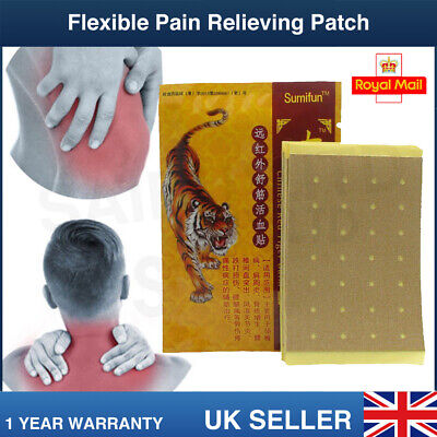 🔥 8 X LARGE TIGER BALM PLASTER Mental Ointment Back Muscle Joint Ache Knee Neck • 3.99£