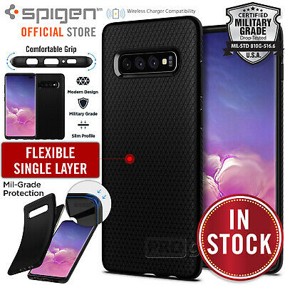 AU19.99 • Buy For Samsung Galaxy S10/S10e/S9/S8/Plus Case Genuine SPIGEN Liquid Air Soft Cover