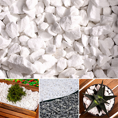 £19.99 • Buy Garden Stones Aggregates Decorative Extra WHITE Chippings NAURAL MARBLE Gravel