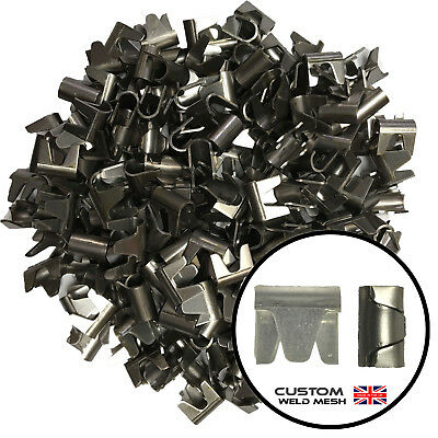 Wire Mesh Clips 200 Qty Small CT10 Ideal For Fencing Cage Making Aviaries Mesh  • 8.99£
