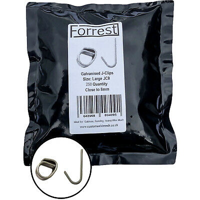 £14.99 • Buy Large J-clips 300QTY Close To 8mm Wire Mesh Clips Gabions Fencing Poultry Cage