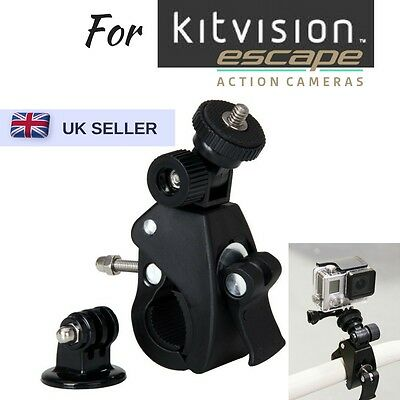 £6.90 • Buy Bike Handlebar Mount Bicycle Clamp For Kitvision Escape 4KW HD5W HD5 Action Cam