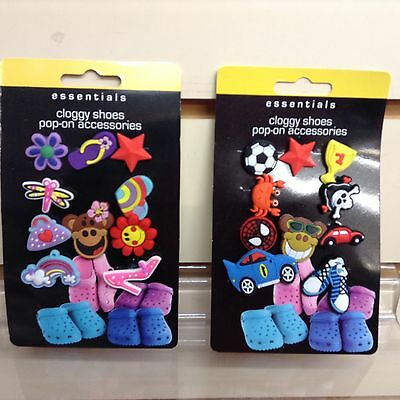 10 Croc Jibbitz Boys Girls Car Star Flower Rainbow Monkey Crab Charms Buttons  • 3£