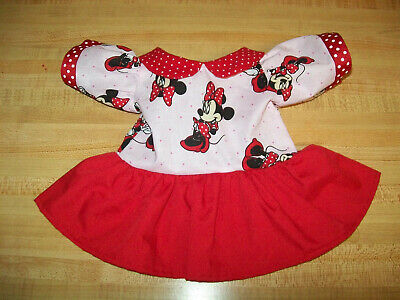 DISNEY MINNIE MOUSE DRESS PINK +RED POLKA DOT For  16-17  CPK Cabbage Patch Kids • 12.29£