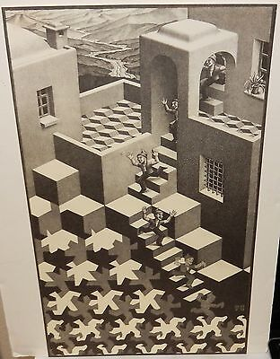 $299.99 • Buy M.c. Escher Optical Illusion Stairs Vintage Black And White Lithograph