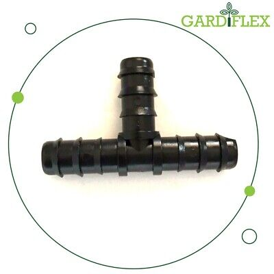 Gardiflex 13mm Barbed Tee Connectors For Irrigation Hose Water Pipe • 1.79£