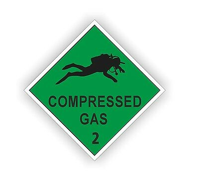 Compressed Air Scuba Diving Cylinder On Board Decal Sticker Diver  • 0.99£