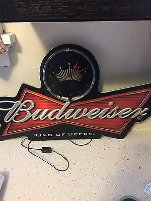 $ CDN335.14 • Buy Budweiser Neon Clock Sign Metal