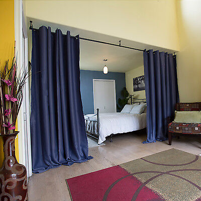 $99.99 • Buy Premium Heavyweight Room Divider Curtains, 8-9ft Tall X 5-15ft Wide Panels