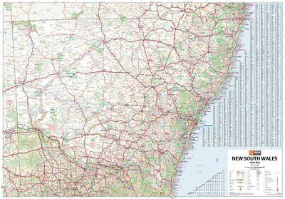 AU44.90 • Buy New South Wales State Map Poster (70x100cm) Nsw Large Road Guide