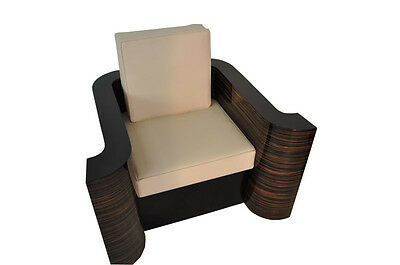 AU4520.80 • Buy Art Deco Design Armchairs With Armrest Made Of Macassar
