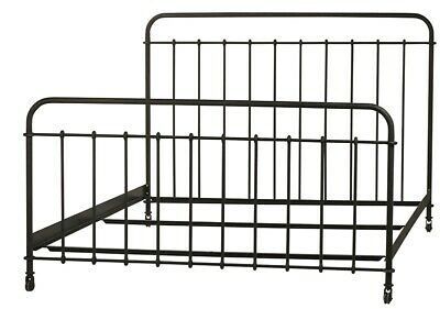 $ CDN2508.86 • Buy 84  Ilda Bed Frame Queen Classic Iron Distressed Metal Finish Antique Black