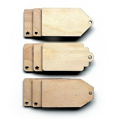Wooden Birch Ply Luggage Gift Tag Shapes Tags Plaques Embellishments Decoration  • 1.82£