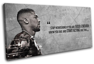 £29.99 • Buy Boxing Anthony Joshua Quote Sports SINGLE CANVAS WALL ART Picture Print