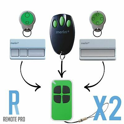 AU19.35 • Buy 2 X Merlin+ C945 CM842 C940 C943 Bearclaw Plus Compatible Garage Remote Control