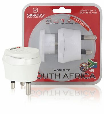 AU24.87 • Buy Skross Mains Plug Travel Adapter Combo World To South Africa