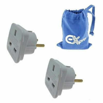 AU8.34 • Buy Ex-Pro® 2 Pack Travel Adapter Converts UK Plugs To India Indonesia Iran