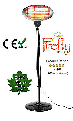 Firefly Garden Outdoor Quartz 2KW Electric Patio Heater Free Standing Infrared • 59.99£
