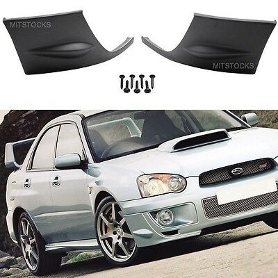 $72.99 • Buy For 04 05 Subaru Impreza Wrx Pu Add-on Front Bumper Lip Cover Cap Spoiler 2 Pcs