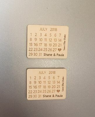 AU75.59 • Buy Personalised Calendar Save The Date Fridge Magnets