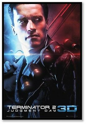 AU85.50 • Buy (framed) Terminator 2 3d Movie Poster 66x96cm Print Picture  Art