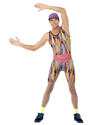 AU41.95 • Buy Comical 90's Aerobics Instructor Retro TV Fitness Motivator Fancy Dress Costume