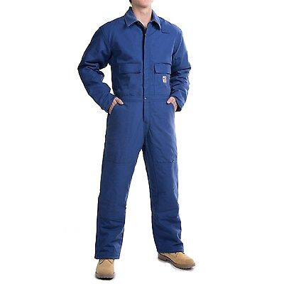 $125 • Buy NWT Carhartt Coveralls 4XL Blue Flame Resistant Duck Big & Tall Long Sleeve
