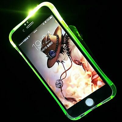 Case LED Light Call For Mobile Phone Samsung Galaxy A3 2017 Green Case New • 8.96£