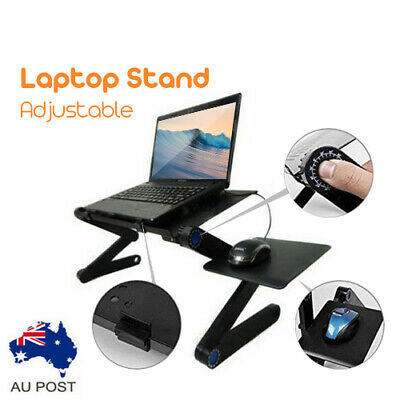 AU21.99 • Buy Portable Foldable Laptop Stand Desk Table Tray Adjustable Sofa Bed Mouse Pad AU